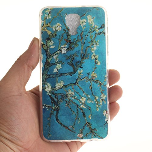 En Pear Scratch Bord Antichoc Transparent Peint flower Souple De Motif Cas Screen Slim Couverture Arrière Silicone LG Protection X Hozor TPU Téléphone Fit Résistant Cas De 6ZS8g