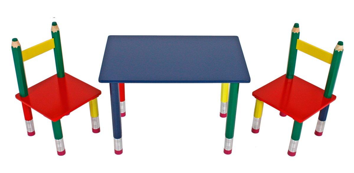 3 Teilige Tischgruppe Für Kinder Bleistift Kindertischgruppe