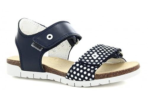 a1438ebdb9b525 Bartek Girls Leather Cork Footbed Sandals 16183 05R Dark Ocean (Little  Kid Big