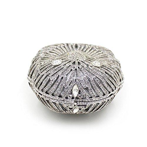 Il lusso degli strass Lion Borse sera Ladies preferito borsetta party di nozze portamonete frizione telaio metallico