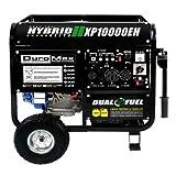 DuroMax 10000 Watt Hybrid Dual Fuel Portable Gas Propane...