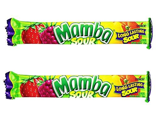 Mamba Fruit Chewy Candy 2.65oz, 2 Packs (Sour Fruit Chews) (Mamba Fruit Chews)