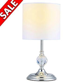 Delica Home Crystal Table Lamp Mini White Desk Lamp Side Lamp For