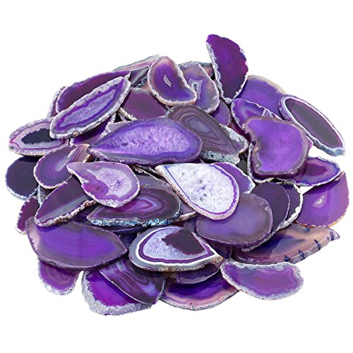 (mookaitedecor Polished Agate Light Table Slices,Geode Agate Slab Cards Pack of 12)