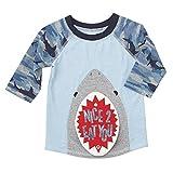 mud pie boy 3t - Mud Pie Baby Boys Camo Shark Rashguard, Blue, MD/2T-3T