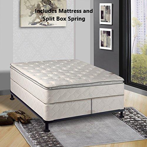 Continental Sleep, Medium Plush Pillowtop, Orthopedic type  Mattress and Box Spring and Box Spring,Cal King Size