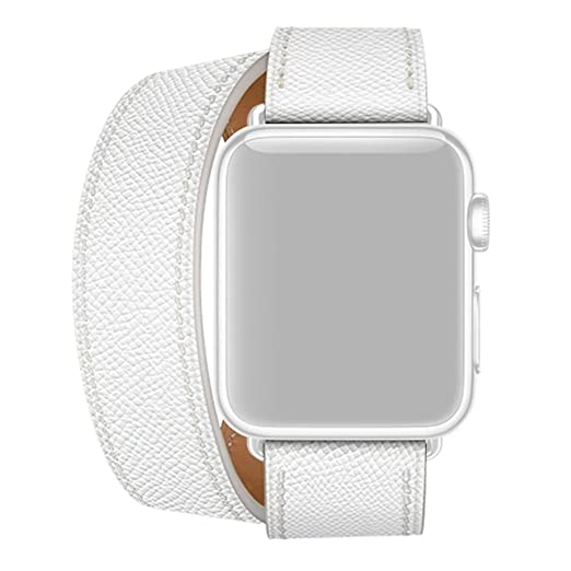 Webla Reloj de doble correa para Apple Watch 1234 en cuero, 38/40 ...