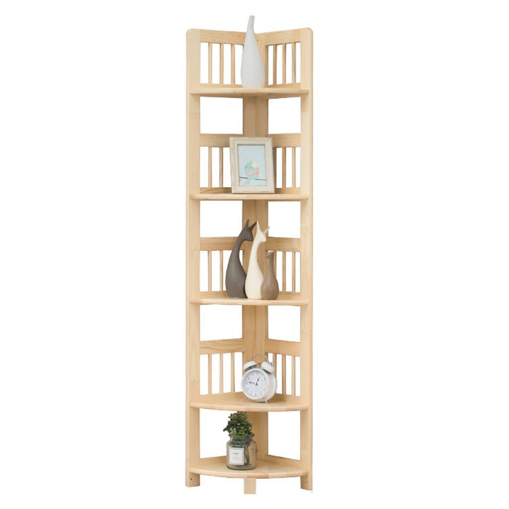 5層木製フレーム、三脚、本棚、本棚、バスルーム、寝室、キッチン、リビングルームに適しています ## (色 : 木の色) B07K43C8YQ 木の色