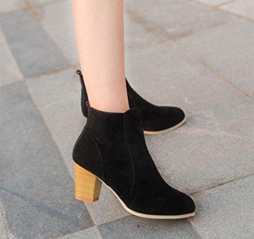 KUKI Herbst Frauen Stiefel Seite Reißverschluss Frauen Stiefel Martin Stiefel flachen Casual Stiefel billig Frauen Stiefel , US7.5 / EU38 / UK5.5 / CN38