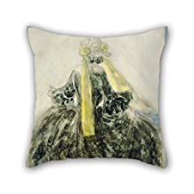 Cushion Cases 16 X 16 Inches / 40 By 40 Cm(both Sides) Nice Choice For Gf Him Valentine Drawing Room Club Kids Girls Oil Painting Constantin Guys - A Fashionable Woman