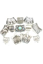 12pcs Unique Styles Scarf Jewelry Alloy Slide Pendant Scarf Accessory 2 to 5 Days