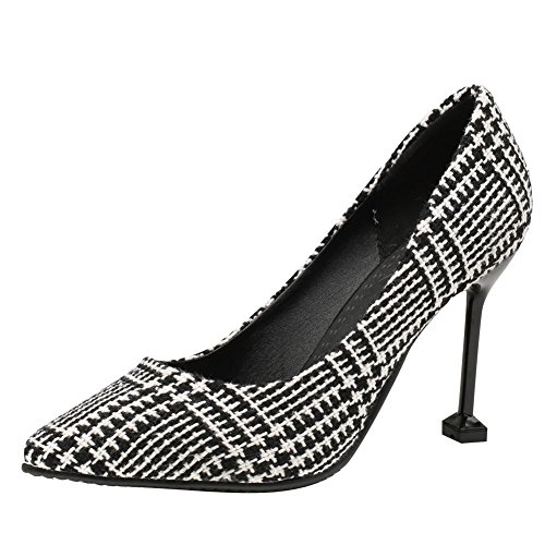 Mee Shoes Damen High Heels Spitz Zweifarbig Pumps