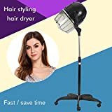Etuoji Professional Salon Stand Up Long Hair Dryer, 1300W Adjustable Height Floor Bonnet Base Rolling High Heat Portable