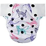 night inserts - HappyEndings Toddler / Kid Pull On Reusable Cloth Diapers / Training Pants (Medium, (Fits 35-50lbs), Cats)