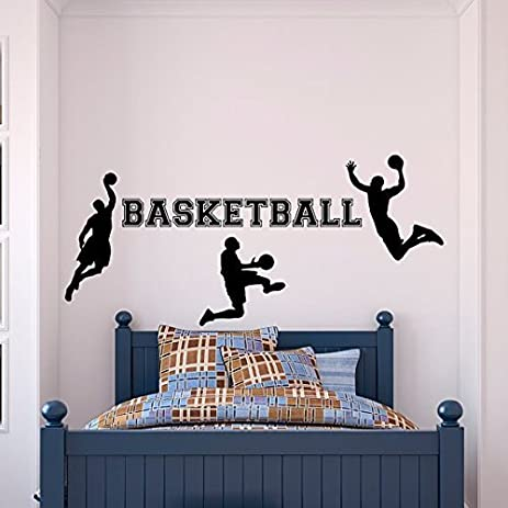 Basketball Wall Decal Sports Wall Decal Vinyl Stickers Basketball Player Wall  Decal Kids Boy Room Wall