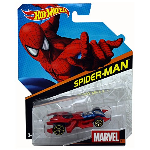 Hot Wheels Marvel Character Car Spider-Man Die-Cast Vehicle ()