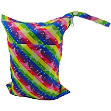 LOVE MY Baby Waterproof Washable Reusable Wet and Dry Cloth Diaper Bag,(rainbow)