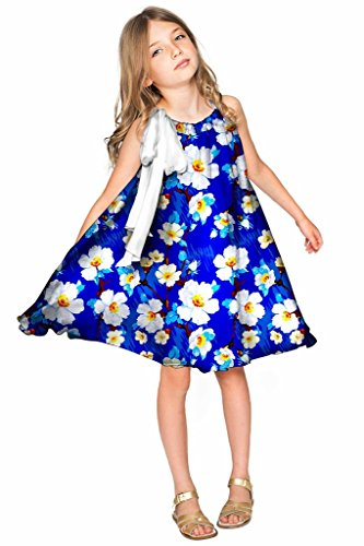 Charmeuse Stretch Halter Dress (PineappleClothing Girls' Chiffon Floral Print Summer Party Swing Halter Dress)