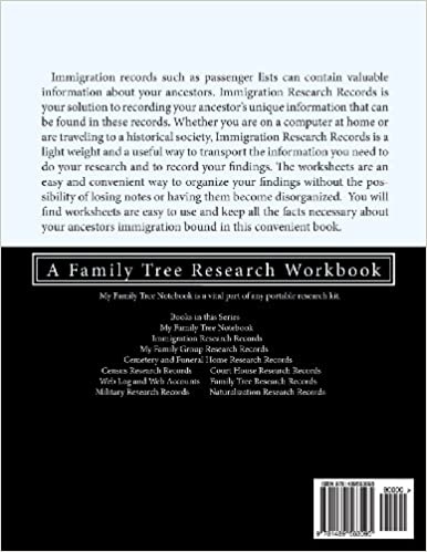 Immigration Research Records: A Family Tree Research Workbook ...