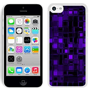 New Beautiful Custom Designed Cover Case For iPhone 5C With Purple Glass Cubes (2) Phone Case