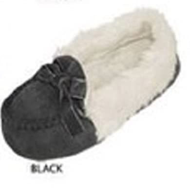 Amazon.com | Girl Toddler Moccasins Micro Suede Velvet and Faux Fur Quality Many Sizes and Colors!! | Slippers