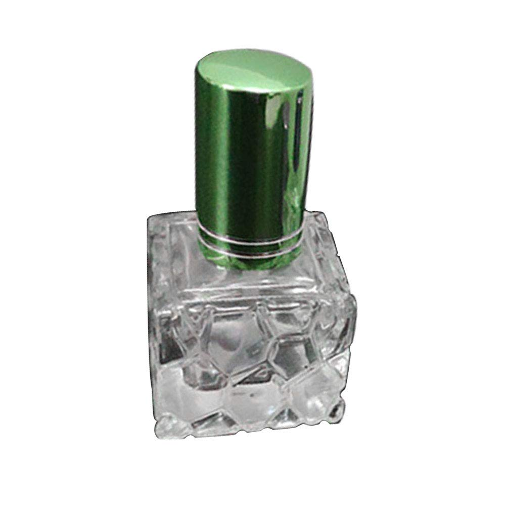 hwangli Portable Travel Empty Perfume Scent Spray Glass Bottle 8ml Green