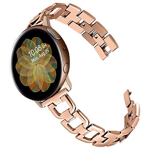 Malla de metal rosa gold Galaxy Watch Active 40mm/Active2