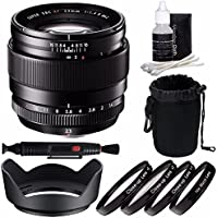 Fujifilm XF 23mm f/1.4 R Lens + 62mm +1 +2 +4 +10 Close-Up Macro Filter Set with Pouch Bundle 4