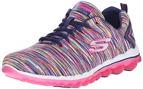 Skechers Sport Women's Skech Air 2.0 Fashion Sneaker, Navy/Multi, 10 M US