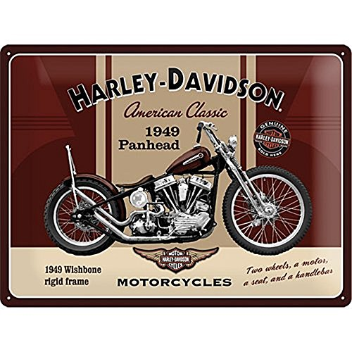 Harley-Davidson Panhead Tin Sign, 40 x 30 cm, used for sale  Delivered anywhere in USA