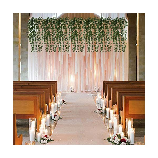 HO2NLE-6-Feet-4PCS-Artificial-English-Ivy-Leaves-Greenery-Garland-Fake-Hanging-Plants-Faux-Foliage-Garden-Wall-Stairway-Party-Wedding-Outside-Decorations