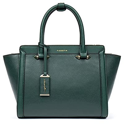 [Today's deal] Annual Lowest Price for Christmas - Clearance FIGESTIN Women Genuine Leather Designer Handbags Purse Ladies Trapeze Top Handle Tote Satchel Shoulder Crossbody Bags
