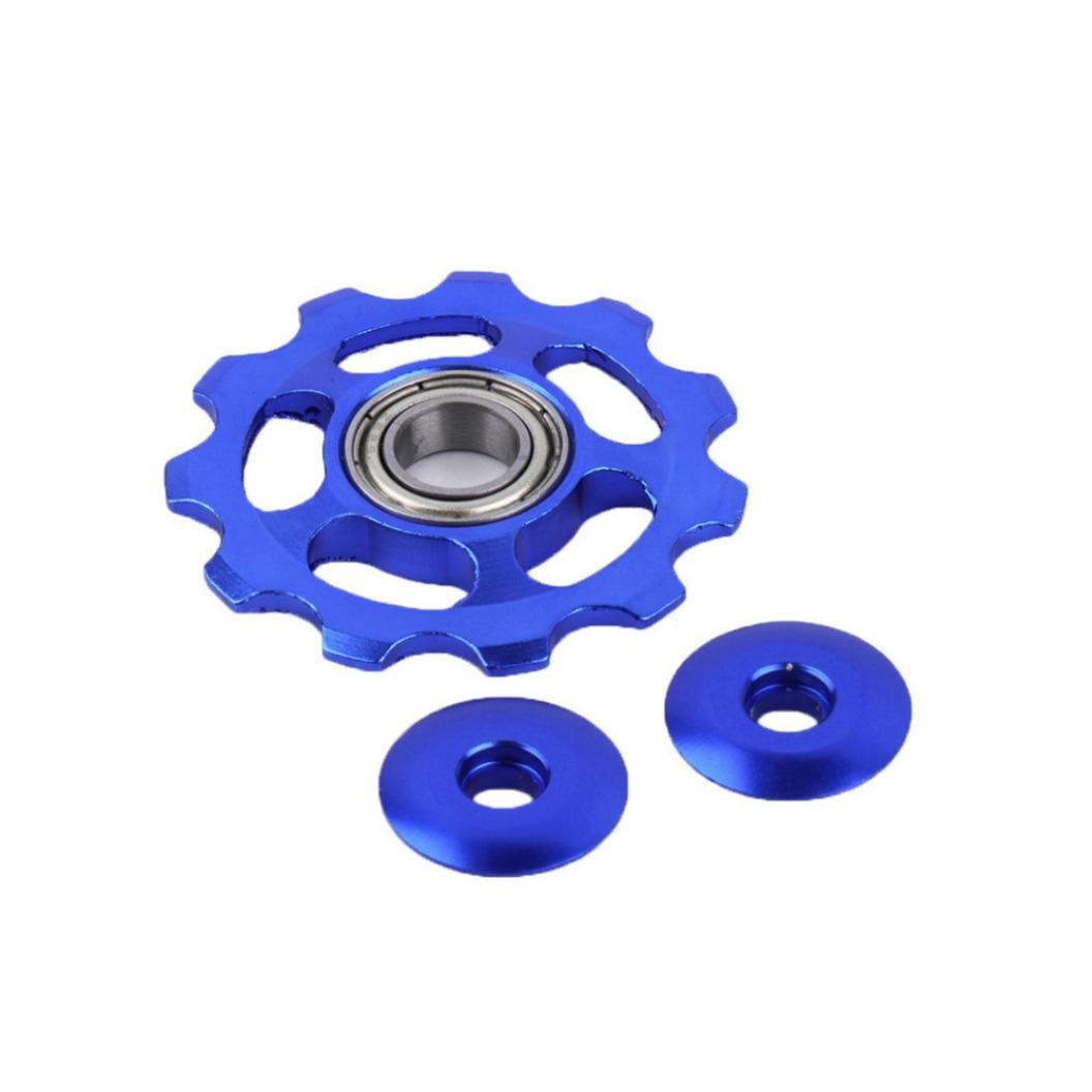 feccile s-ports & fit-ness 11 Gear Bike Rear Derailleurロードマウンテン自転車ガイドローラー、1pcs  ブルー B07DVTN4Y3