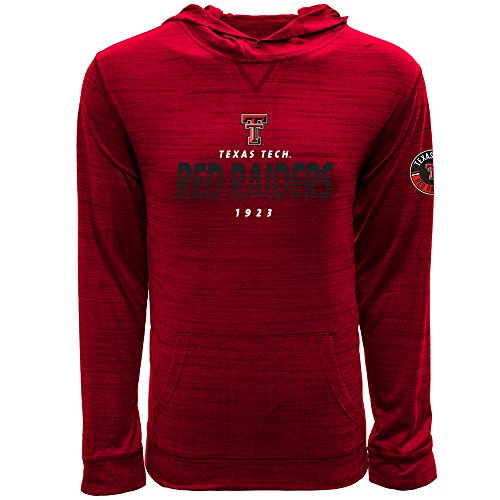 (Levelwear LEY9R NCAA Texas Tech Red Raiders Men's Anchor Static Pullover Hoodie, Medium, Heather Fire Red)