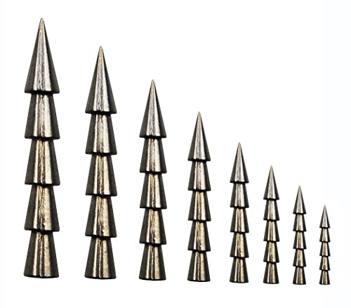 JSHANMEI 100% Tungsten Weights Sinkers Fishing Tackle Pagoda Wacky Nail Sinkers Pencil Worm Insert Fishing Weights (45pcs/box Sinker Kit) -
