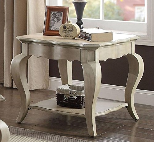Acme Furniture 86052 Chelmsford End Table, Antique Taupe