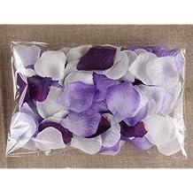 Schoolsupplies 1000pc Mixed Color Rose Petals Purple,lavender,white Wedding Table Decoration