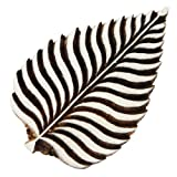 Traditional Leaf Design Wooden Block Decorative Textile Fabric Wood Craft Stamp