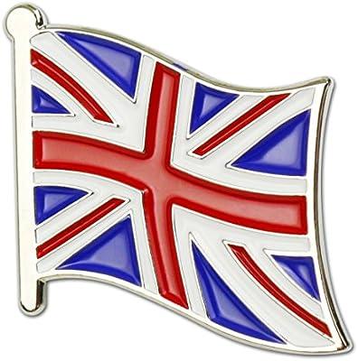 PINMEI - Pin de Solapa con Bandera británica de Francia, Bandera de Italia, esmaltado (Paquete de 2), UK: Amazon.es: Deportes y aire libre