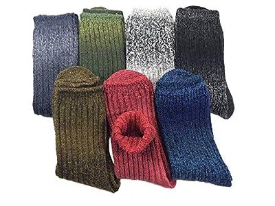 KONY Women's 3-7 Pack Wool Crew Casual Vintage Thermal Socks