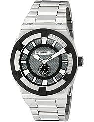 Stuhrling Original Men's 1220B.332D154 Aviator Falcon Square Swiss Quartz Stainless Steel Bracelet Watch