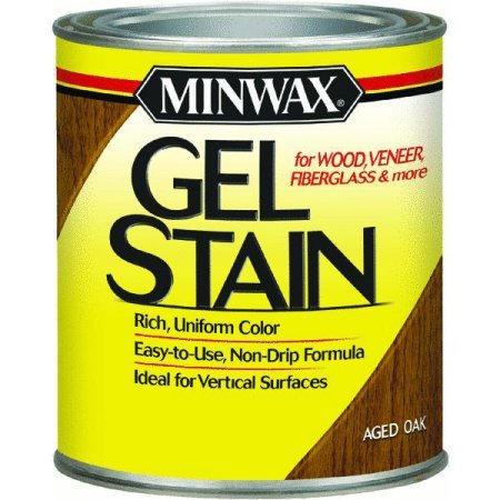 Minwax 66020 1 Quart Gel Stain Interior Wood, Aged Oak by Minwax ()