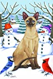 Siamese Cat Tomoyo Pitcher Winter Garden Flag 28