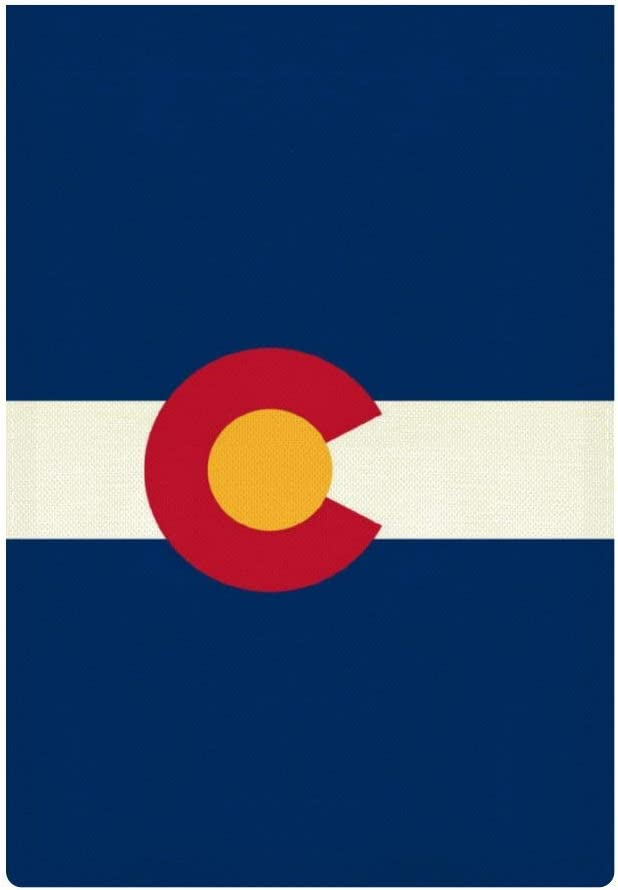 JASMODER Colorado Flag Garden Flag 12.6×18.5 Inch Double Sided Burlap Decorative Yard Banner Garden Flag Holiday Flag for Party Home Outdoor