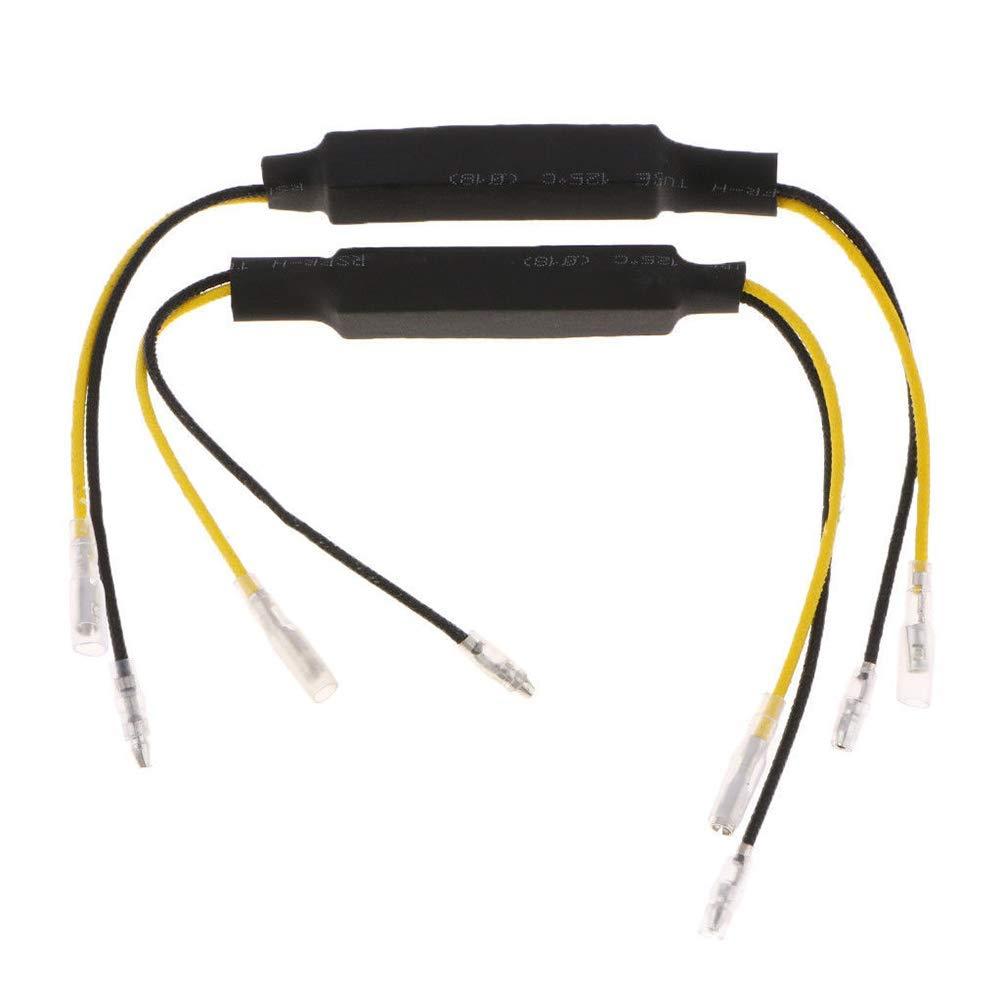 Free Size Matedepreso 4 Pezzi Moto Accessori Decodificatore Spared per Frecce LED Resistori Cavo Nero