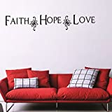 dfphh letters wall stickers Faith Hope Love Englishations Kids Room Living Room Children's Bedroom Home Decors 59.3x4.7inch