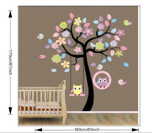 Sticker hibou chouette chambre enfant bébé