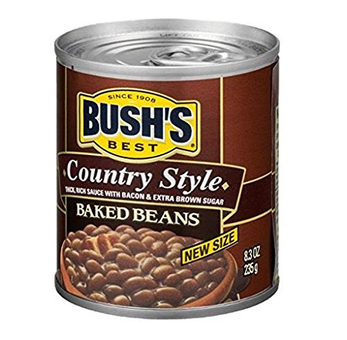 Bush's Best Country Style Baked Beans (Pack of 4) 8.3 oz Small - Best Baked Bushs Beans