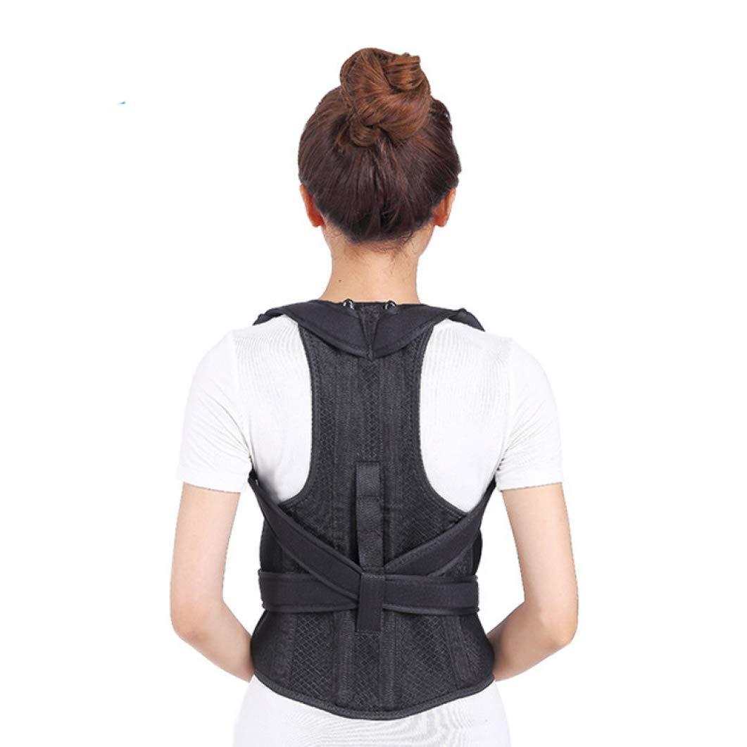 JORZILANO Unisex Adult Back Posture Corrector Shoulder Lumbar Pain Brace Spine Support Belt Adjustable Corset Body Healthy Care by YOTATO