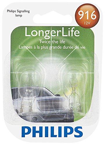 Philips 916 916 LongerLife Miniature Bulb, 2 Pack